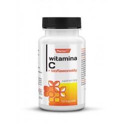Witamina C + Bioflawonoidy (60kaps) Kwas L-askorbinowy Pharmovit