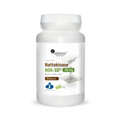 Nattokinase NSK-SD® 100mg (60kaps) Nattokinaza Aliness