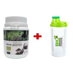 Młody Jęczmień Zielony BIO 150g + Shaker Bio Organic Foods