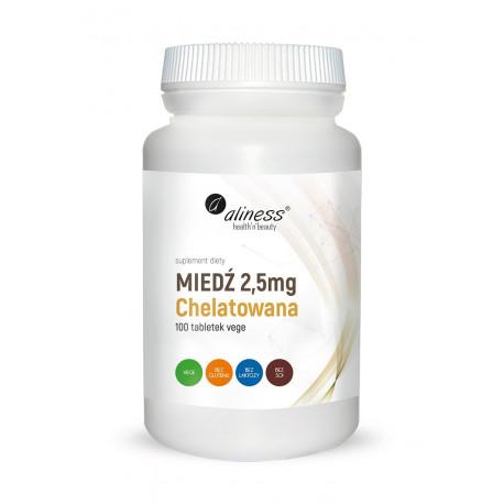 Miedź Chelatowana 2,5 mg (100tab) Aliness
