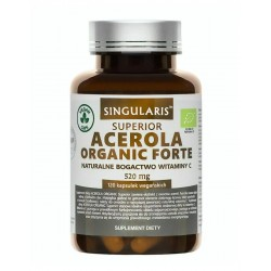 Acerola Organic Forte 520 mg (120kaps) Witamina C Singularis