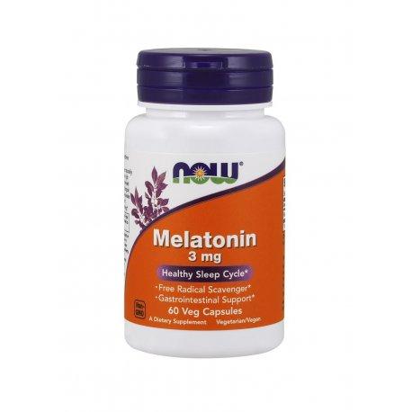 Melatonina 3 mg (60 kaps) Now Foods