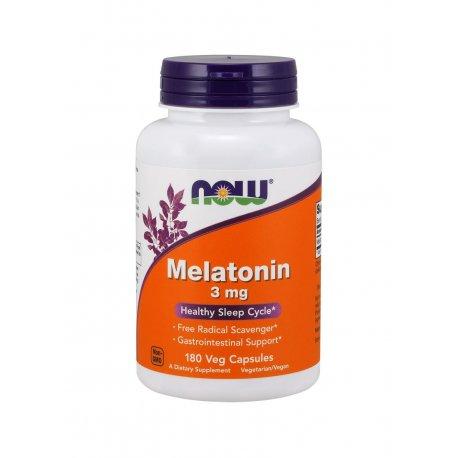 Melatonina 3mg (180kaps) Now Foods