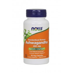Ashwagandha 450 mg (90 kaps) Ekstrakt 2.5 % Now Foods