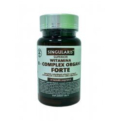 Witamina B-Complex Organic Forte (30kaps) Roślinny Kompleks Witamin z Grupy B Singularis