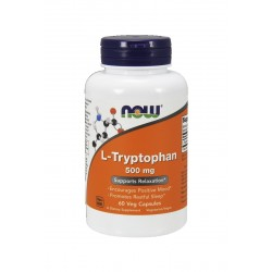 L-Tryptophan Tryptofan 500 mg (60kaps) Now Foods