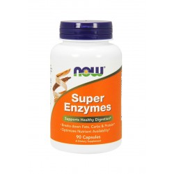 Super Enzymes Enzymy Trawienne (90kaps) Now Foods
