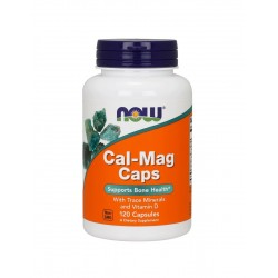 CAL-MAG Bone Health (120kaps) Zdrowie Kości D3 + Minerały Now Foods