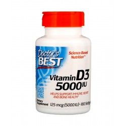 Witamina D3 5000 IU (180sgels) Doctor\'s Best