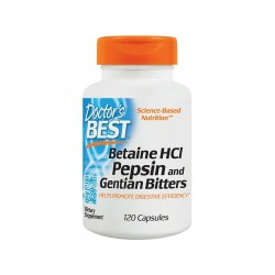 Betaine HCL Pepsine & Gentian Bitters (120 k) Betaina Pepsyna Goryczka Doctor's Best