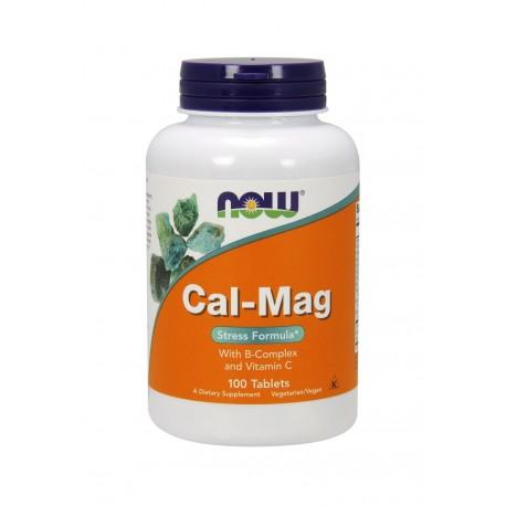 CAL-MAG Stress Formula B-Complex Witamina C (100tab) Now Foods