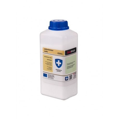 Askorbinian Sodu Czysty Min. 99,5% 1kg Biomus
