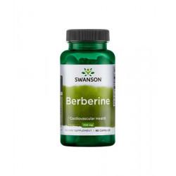 Berberine Berberyna HCL 400mg (60kaps) Cukrzyca Swanson