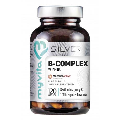 WITAMINA B-COMPLEX 8 witamin z grupy B (120kaps) Silver Myvita