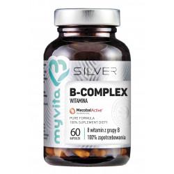 Witamina B-COMPLEX 8 witamin z grupy B (60 kaps) Silver Myvita
