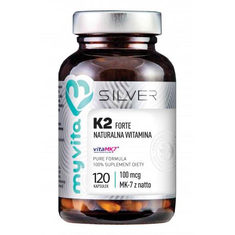 WITAMINA K2 MK-7 FORTE 100 mcg Naturalna (120 kaps) Silver Myvita