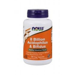Probiotyk 8 Bilion Acidophilus & Bifidus 8mld (120 kaps) Now Foods