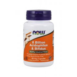 Probiotyk 8 Bilion Acidophilus & Bifidus 8 mld (60 kaps) Now Foods