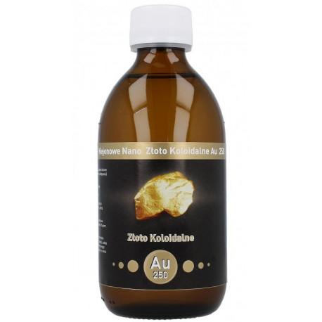Niejonowe Nano Złoto Koloidalne Au 250 25ppm 300ml Vitacolloids