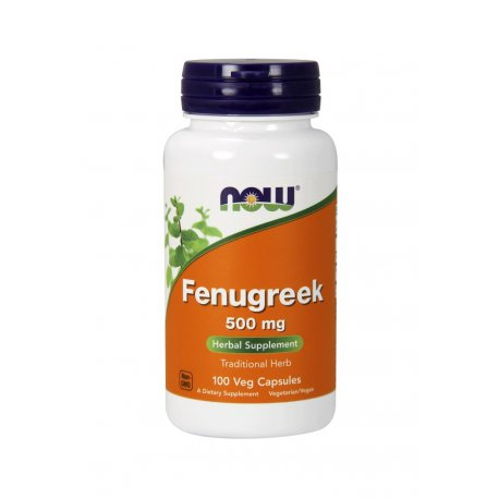 Fenugreek Kozieradka 500mg (100kaps) Testosteron Now Foods