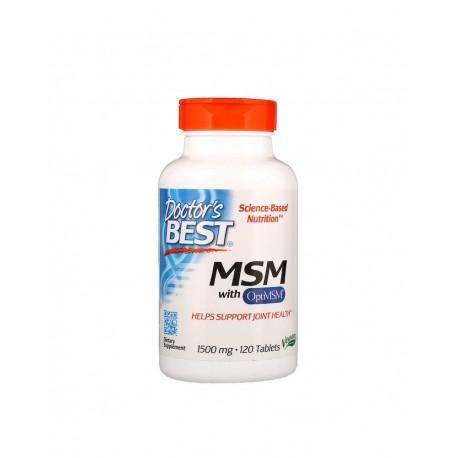MSM OptiMSM 1500 mg (120 tab) Siarka Organiczna Doctor's Best
