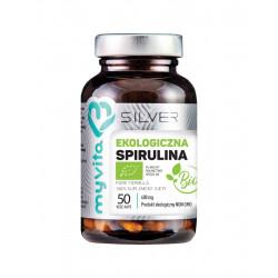 Spirulina Platensis BIO 600 mg (50 kaps) Silver MyVita
