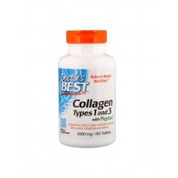 Kolagen Typu 1 & 3 Peptan 1000 mg (180tab) Doctor's Best