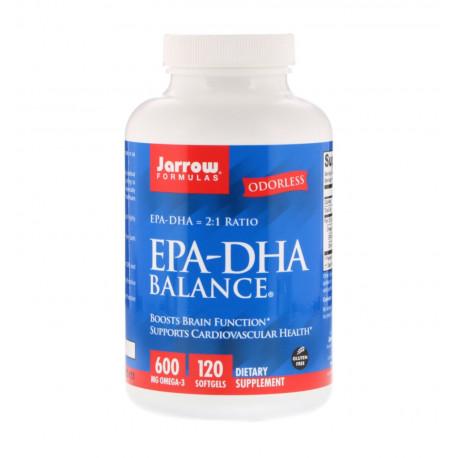 EPA DHA Balance (2:1) Kwasy Tłuszczowe Omega-3 600 mg (120 sgels) Jarrow Formulas