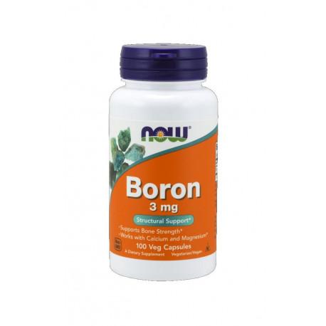Boron 3 mg Bor (100 kaps) Zdrowe Kości Now Foods