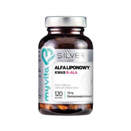 Kwas Alfa Liponowy R-ALA 150 mg (120 kaps) Silver MyVita