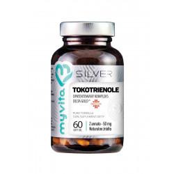 Witamina E Tokotrienole Kompleks DeltaGold® z Annato 50 mg (60 kaps) Silver MyVita
