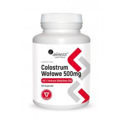 Colostrum Wołowe Bovine 40% Immunoglobulin 500 mg (100 kaps) Aliness