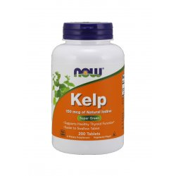 Kelp 150mcg (200 tab) Naturalny Jod Now Foods