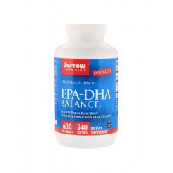 EPA DHA Balance (2:1) Kwasy Tłuszczowe Omega-3 600 mg (240 sgels) Jarrow Formulas