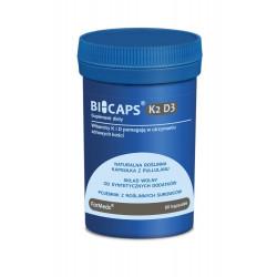 BICAPS Witamina K2 MK-7 100 mcg + D3 2000 IU (60 kaps) ForMeds