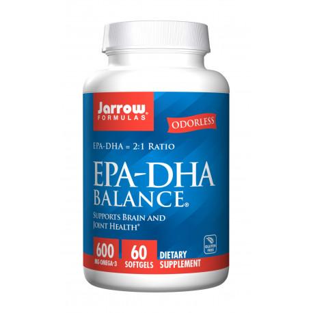 EPA DHA Balance (2:1) Kwasy Tłuszczowe Omega-3 600 mg (60 sgels) Jarrow Formulas