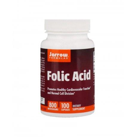 Folic Acid 800 mcg Kwas foliowy (100 kaps) Jarrow Formulas