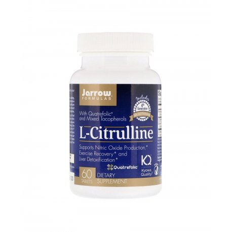 L-Citrulline L-Cytrulina + Foliany + Tokoferole (60 tab) Aminokwasy Jarrow Formulas