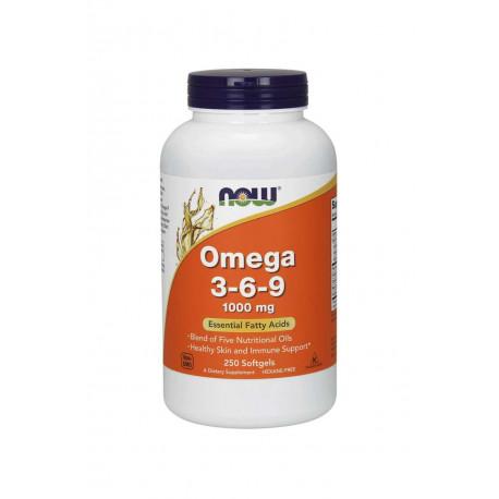 Omega 3-6-9 1000 mg Kwasy Tłuszczowe (250 sgels) Now Foods