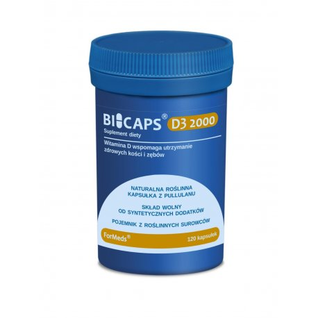 BICAPS Witamina D3 2000 IU Cholekalcyferol (120 kaps) ForMeds