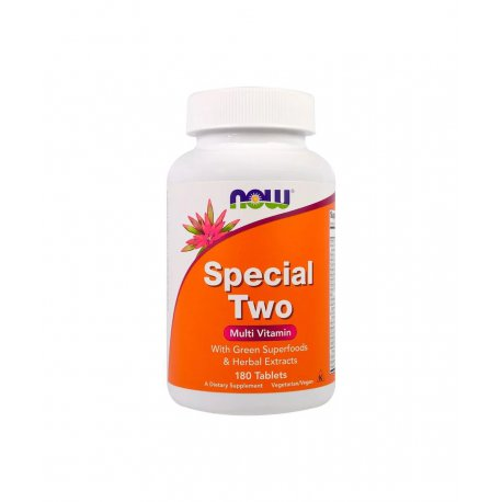 SPECIAL TWO Multiwitamina Kompleks Witamin i Minerałów (180 tab) Now Foods