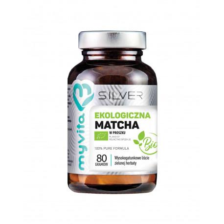 Herbata Matcha Ekologiczna 100% Liście 80 g BIO Silver MyVita