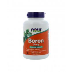 Boron 3 mg Bor (250 kaps) Zdrowe Kości Now Foods