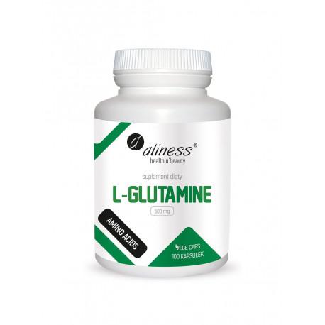 L-Glutamine L-Glutamina Aminokwasy 500 mg (100 kaps) Aliness
