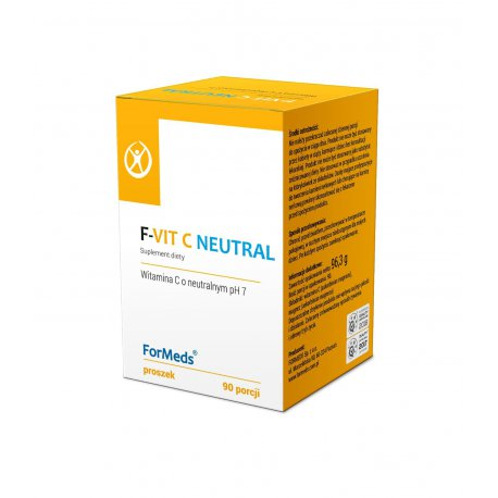 F-VIT C NEUTRAL Askorbinian Magnezu (Witamina C o Neutralnym pH 7) Proszek 96,3 g ForMeds