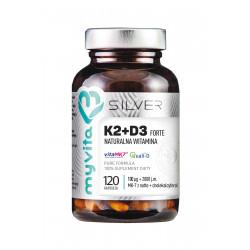 WITAMINA K2 + D3 FORTE 100 mcg + 2000 IU (120 kaps) Silver Myvita