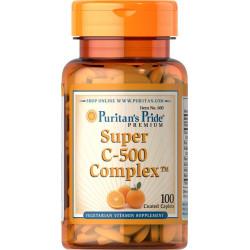 Witamina C-500 mg Bioflawonoidy Cytrusowe + Dzika Róża (100tab) Puritan's Pride