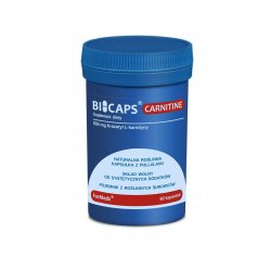 BICAPS CARNITINE N-acetyl-L-karnityna 550 mg Aminokwasy (60 kaps) ForMeds