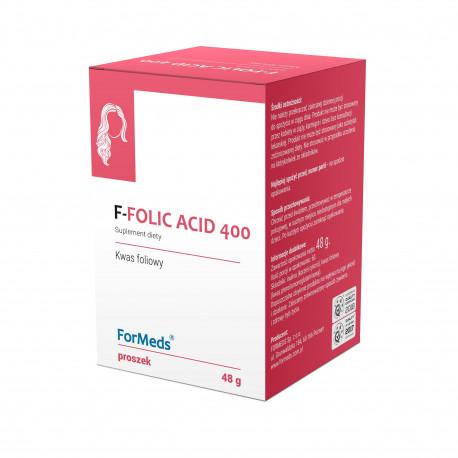 F-Folic Acid 400 Kwas Foliowy Proszek (48 g) ForMeds