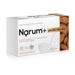 Narum+ Pestki Moreli 200 mg (30 kaps) Probiotyk Lactobacillus Acidophilus Narine